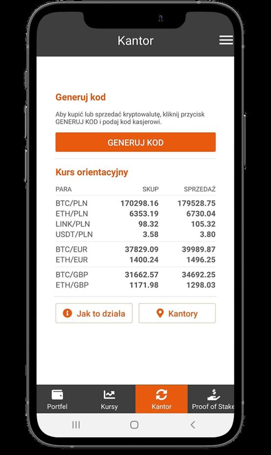 Aplikacja Kanga Wallet